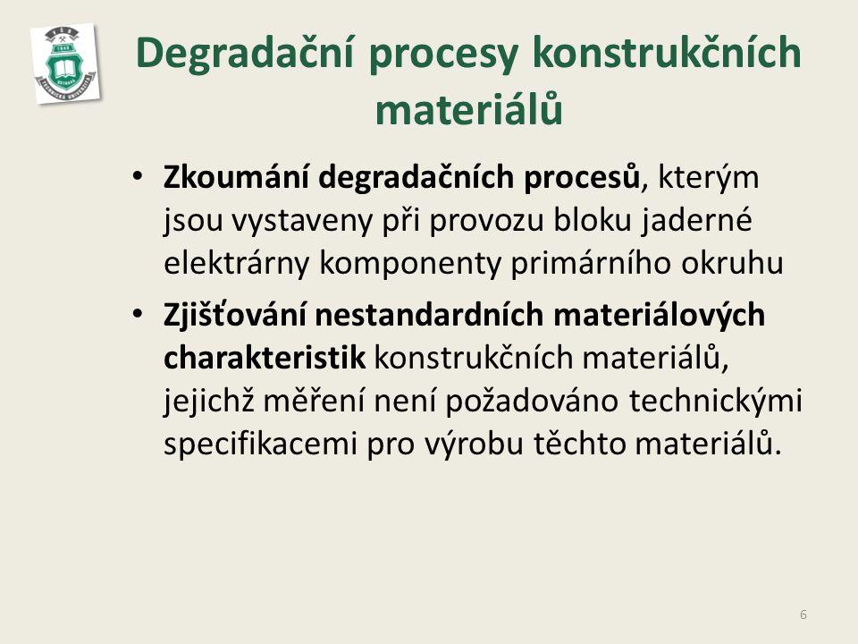 Degradační procesy konstrukčních materiálů