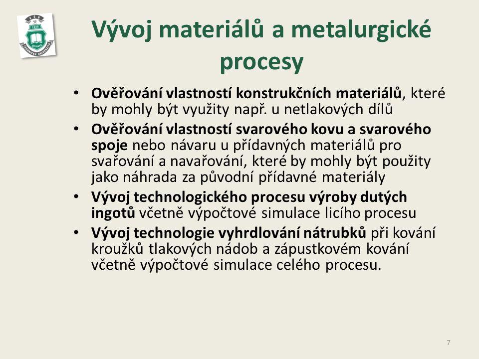 Vývoj materiálů a metalurgické procesy