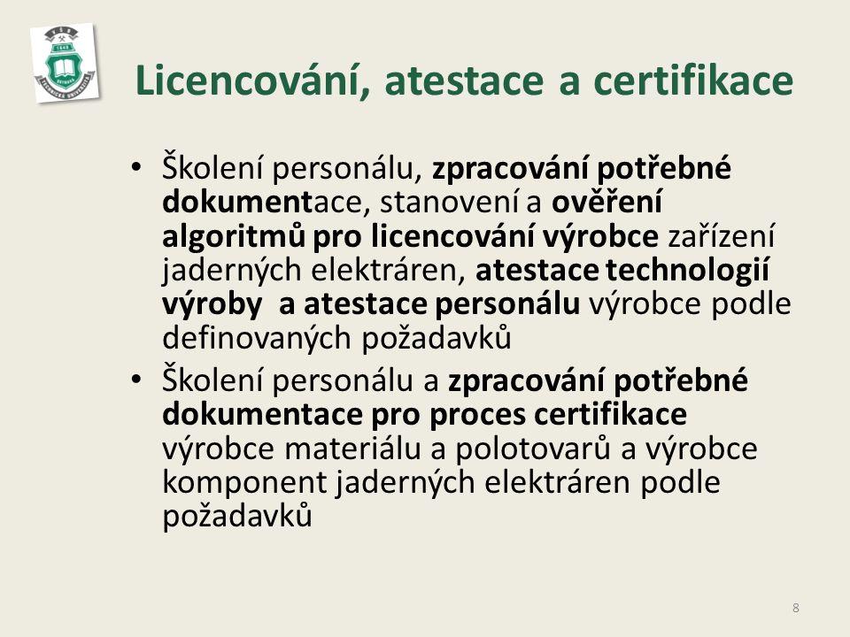 Licencování, atestace a certifikace