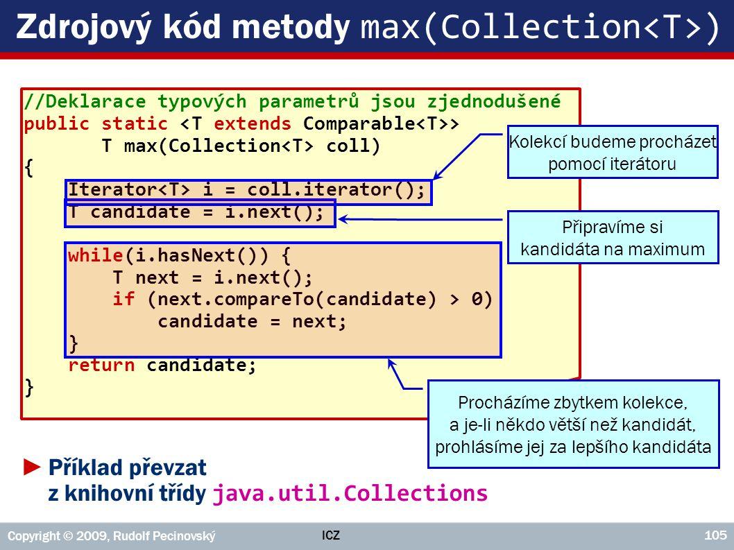 Zdrojový kód metody max(Collection<T>)