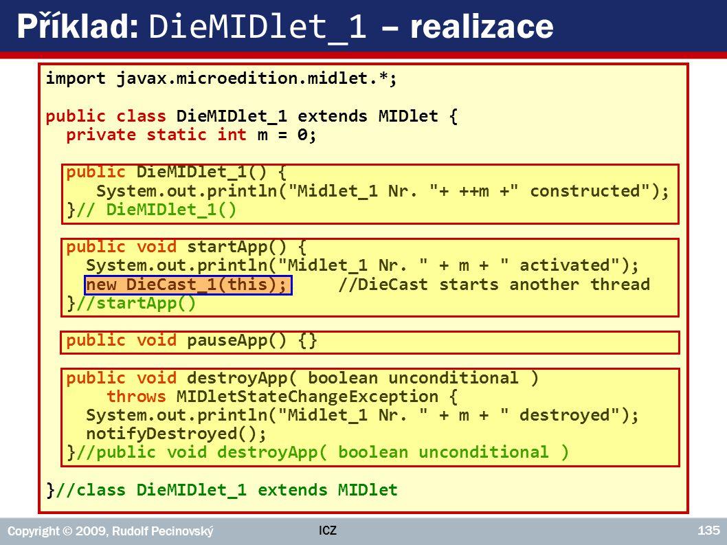 Příklad: DieMIDlet_1 – realizace