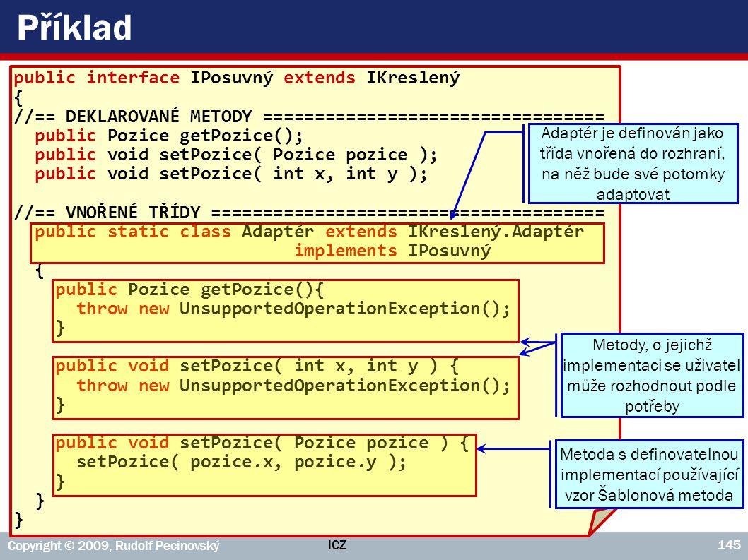 Metoda s definovatelnou implementací používající vzor Šablonová metoda