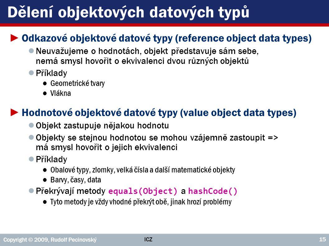 Dělení objektových datových typů