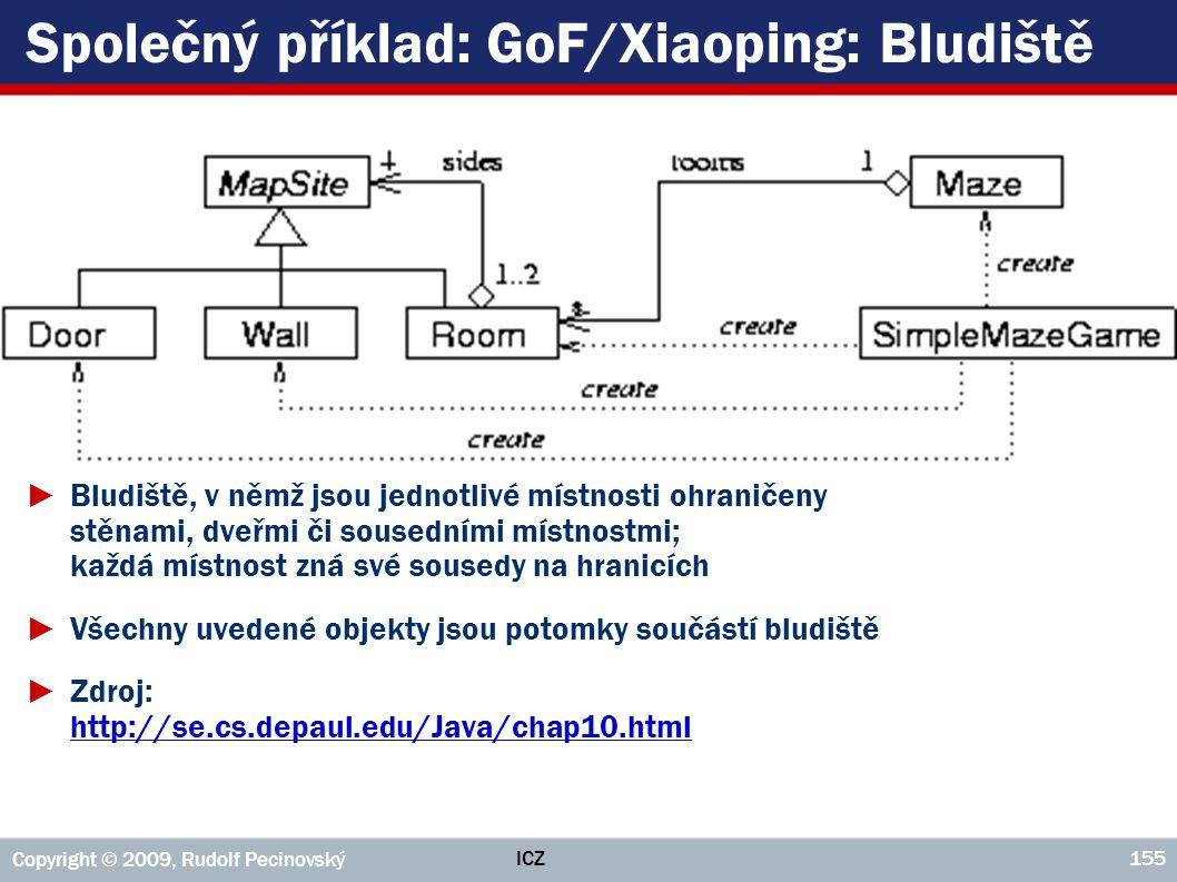 Společný příklad: GoF/Xiaoping: Bludiště
