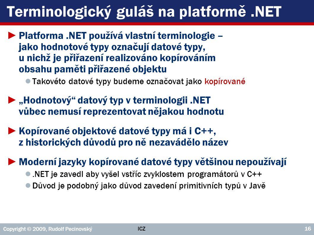 Terminologický guláš na platformě .NET