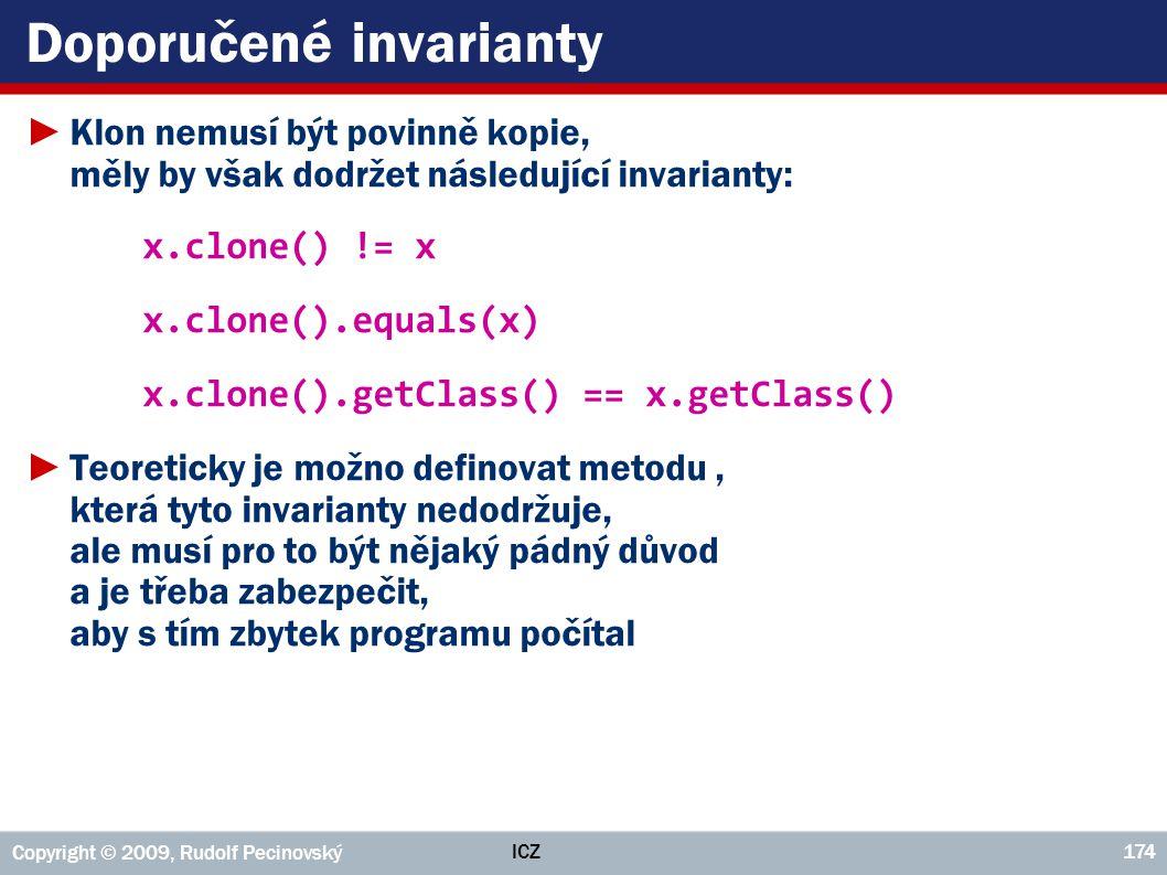 Doporučené invarianty