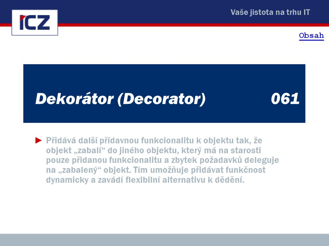 Dekorátor (Decorator) 061