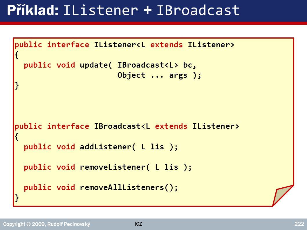 Příklad: IListener + IBroadcast