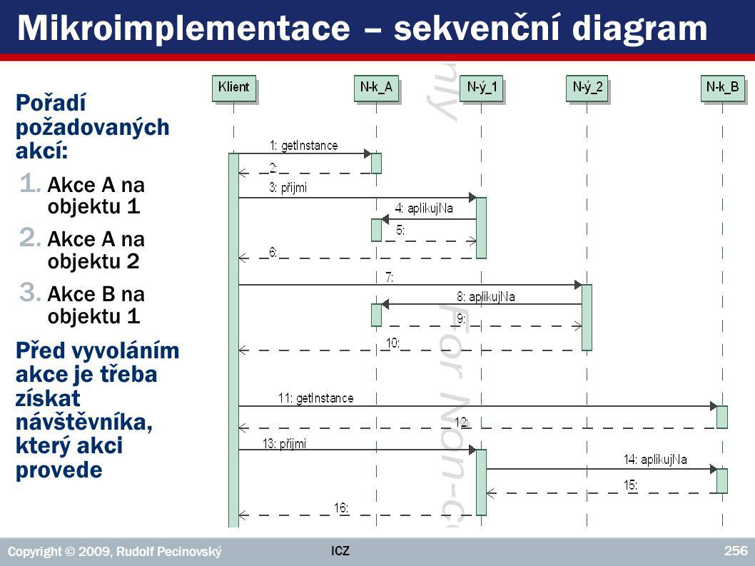 Mikroimplementace – sekvenční diagram