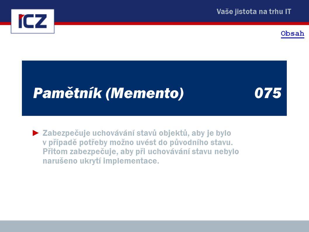 Obsah Pamětník (Memento) 075.