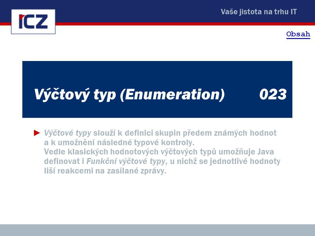 Výčtový typ (Enumeration) 023