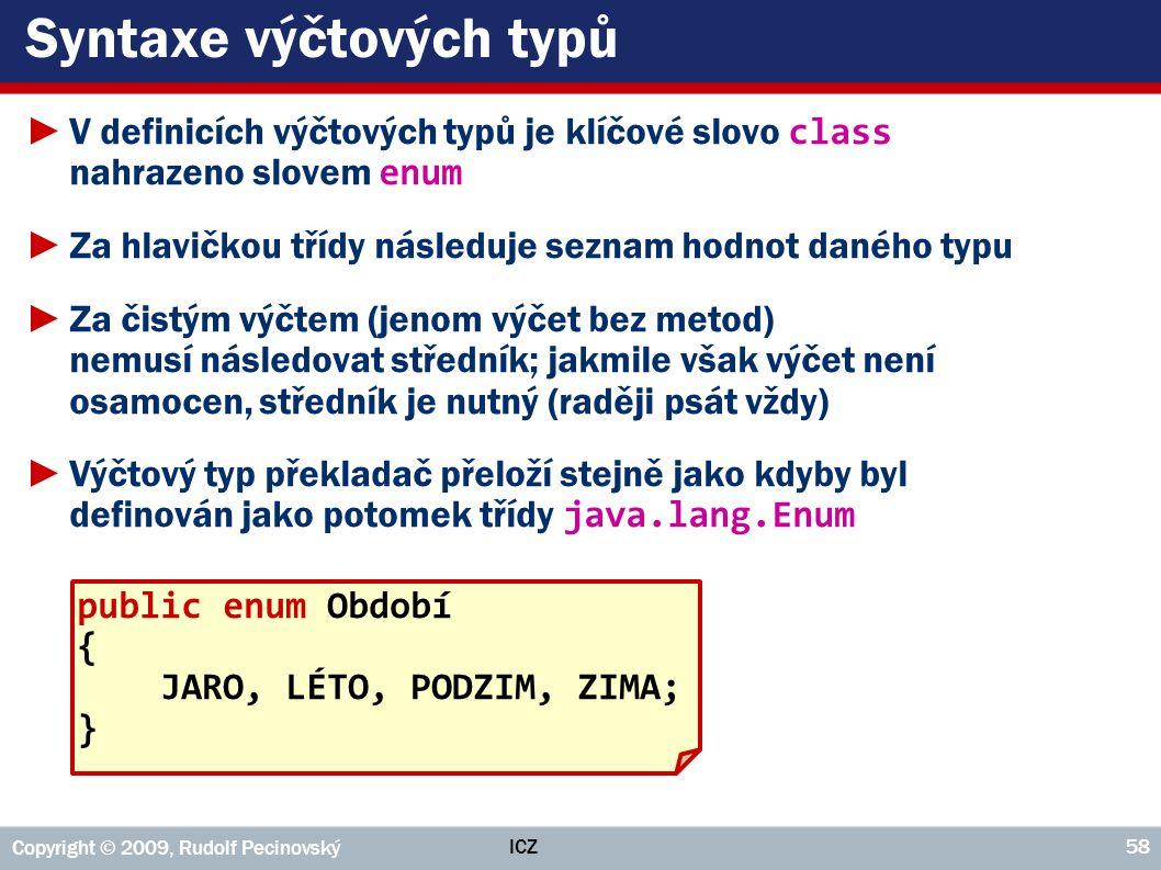Syntaxe výčtových typů