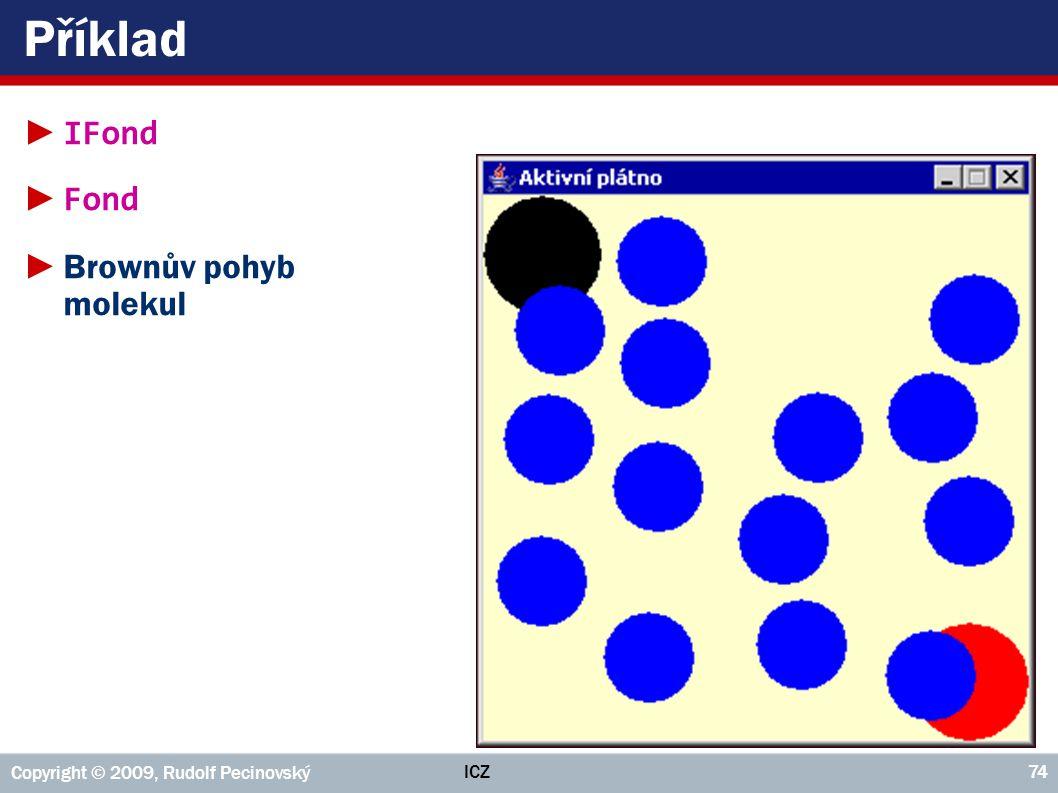 Příklad IFond Fond Brownův pohyb molekul