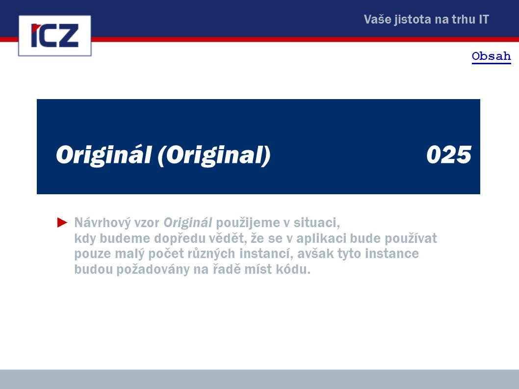 Obsah Originál (Original) 025.