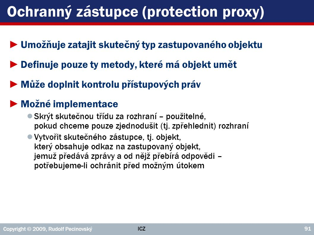 Ochranný zástupce (protection proxy)