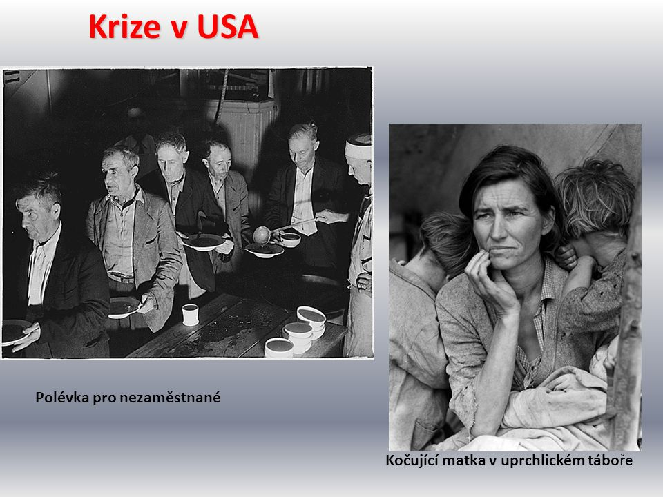 Krize v USA Polévka pro nezaměstnané