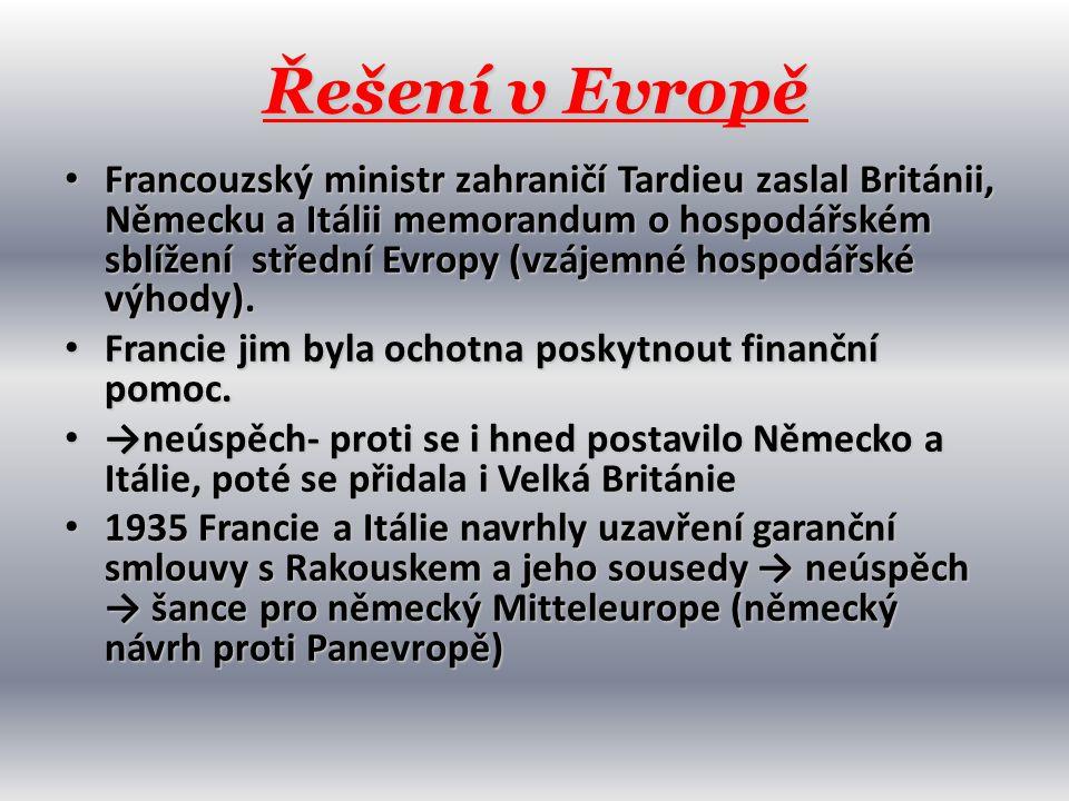Řešení v Evropě