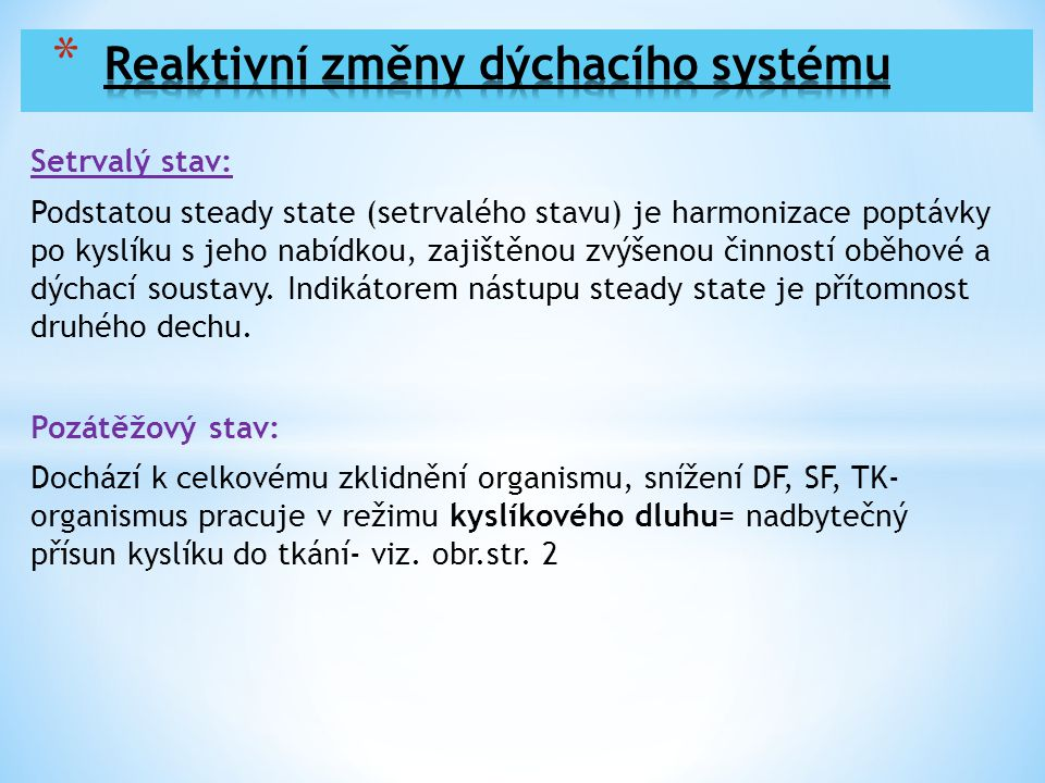 Reaktivní změny dýchacího systému