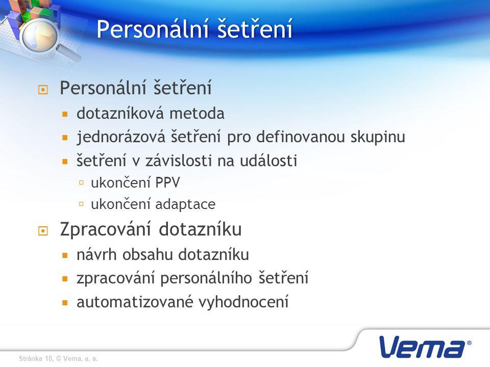 Personální šetření Personální šetření Zpracování dotazníku