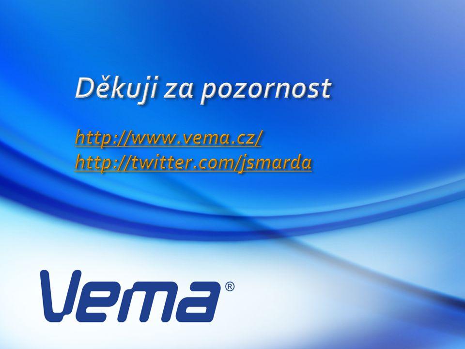 Děkuji za pozornost http://www.vema.cz/ http://twitter.com/jsmarda