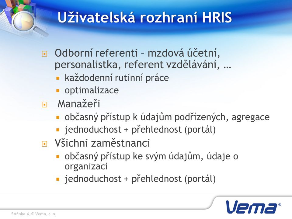 Uživatelská rozhraní HRIS