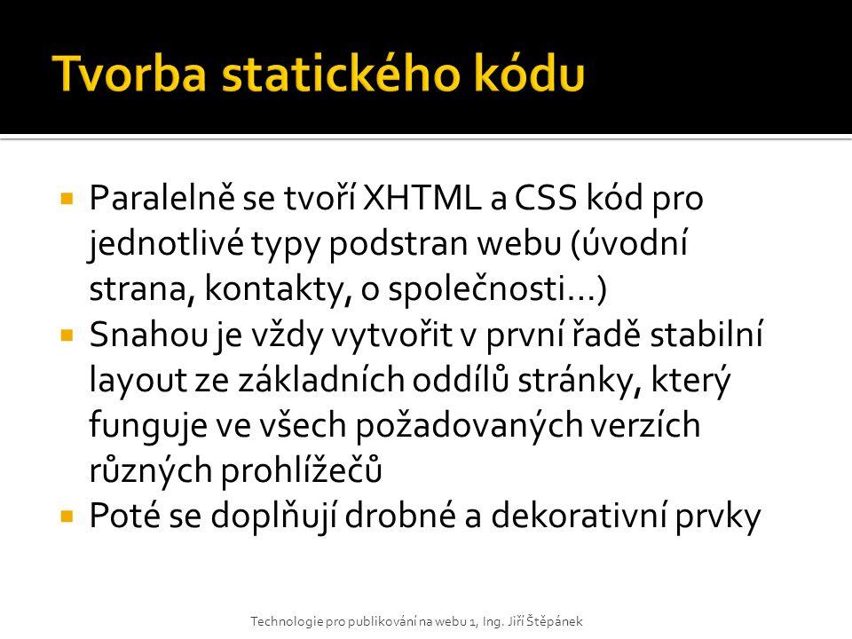 Tvorba statického kódu