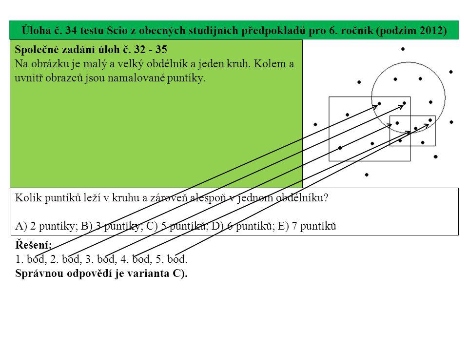 Úloha č. 34 testu Scio z obecných studijních předpokladů pro 6