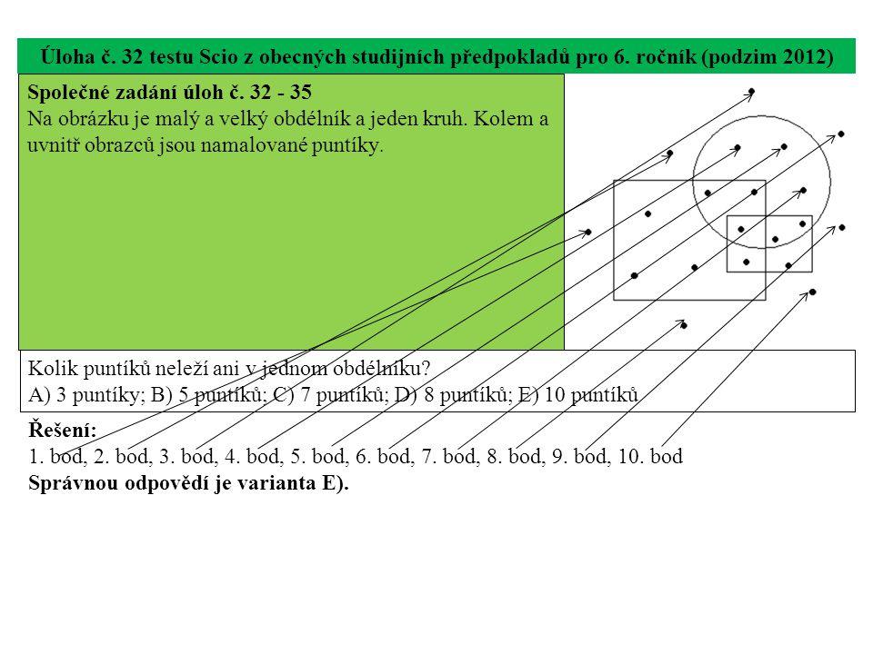 Úloha č. 32 testu Scio z obecných studijních předpokladů pro 6