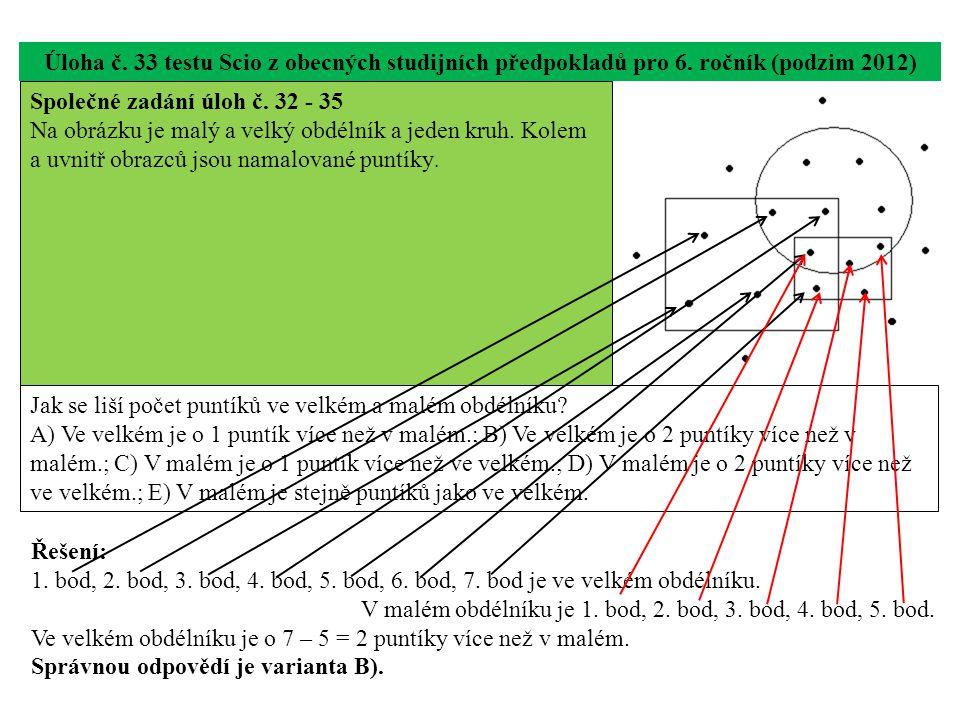 Úloha č. 33 testu Scio z obecných studijních předpokladů pro 6