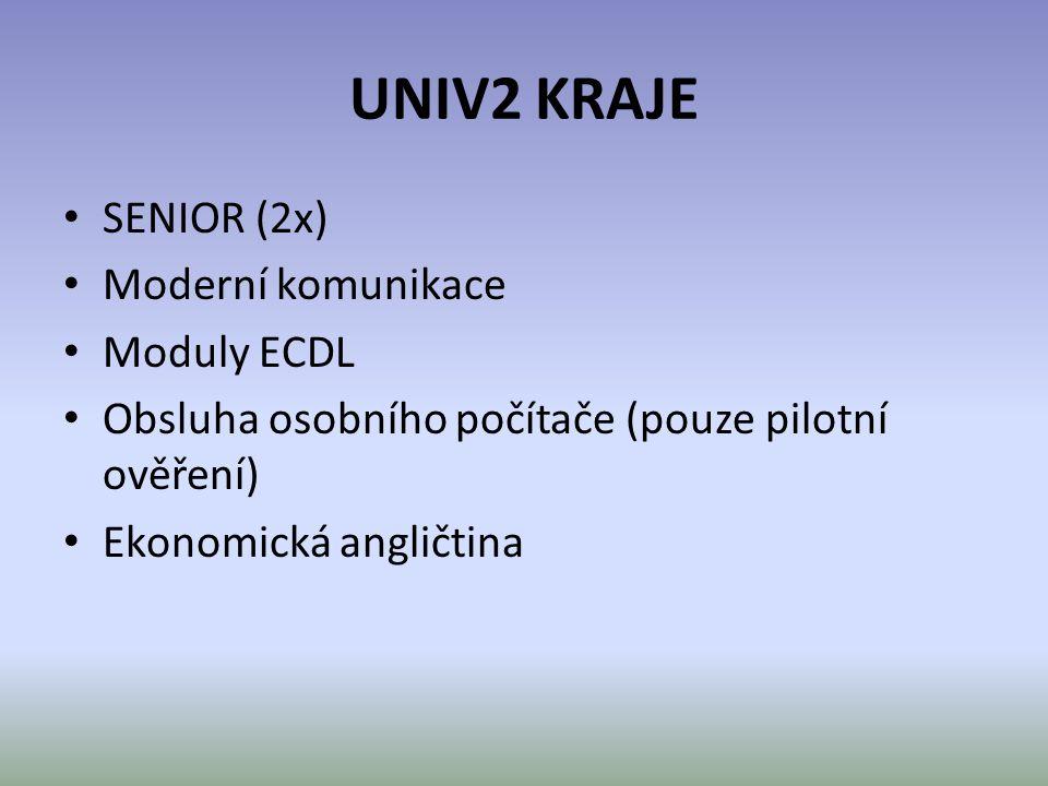 UNIV2 KRAJE SENIOR (2x) Moderní komunikace Moduly ECDL