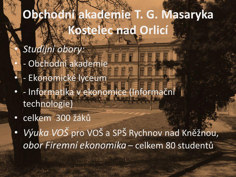 Obchodní akademie T. G. Masaryka Kostelec nad Orlicí