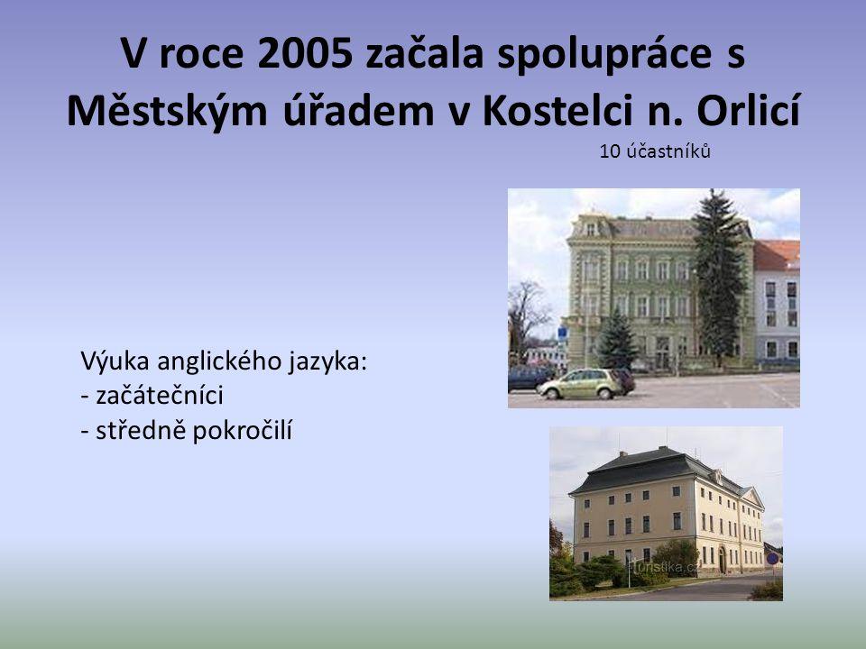 V roce 2005 začala spolupráce s Městským úřadem v Kostelci n. Orlicí
