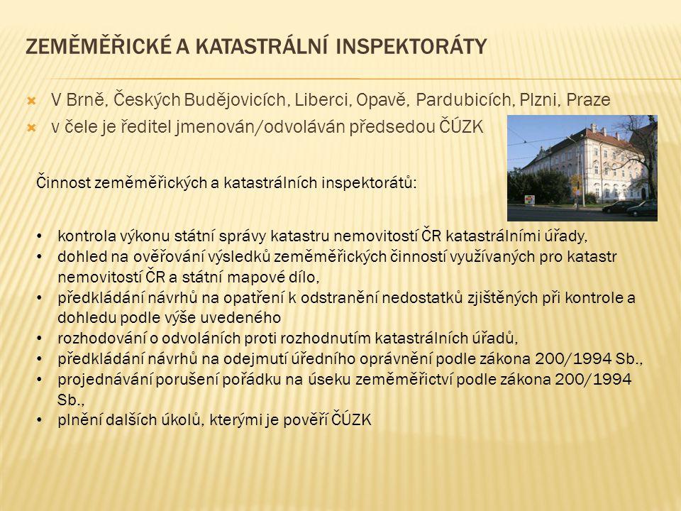 Zeměměřické a katastrální inspektoráty