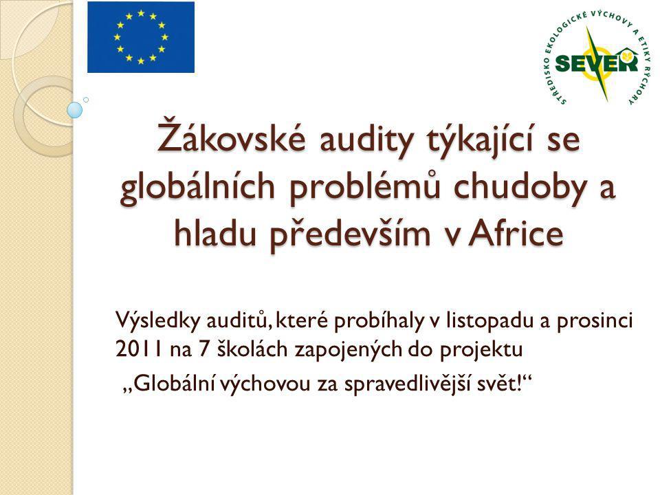 Žákovské audity týkající se globálních problémů chudoby a hladu především v Africe