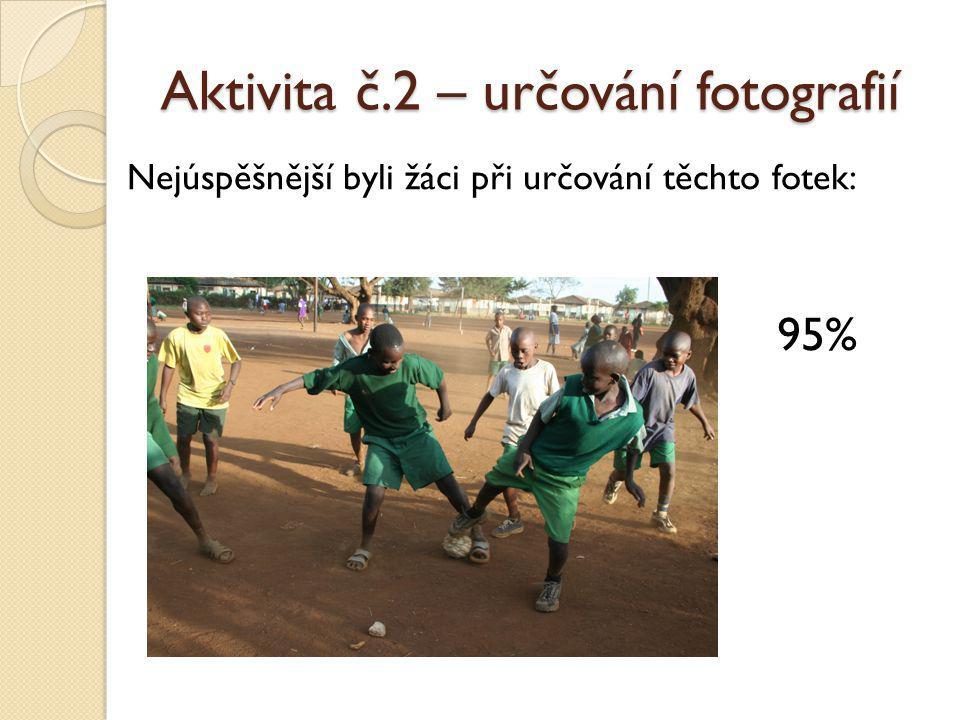 Aktivita č.2 – určování fotografií