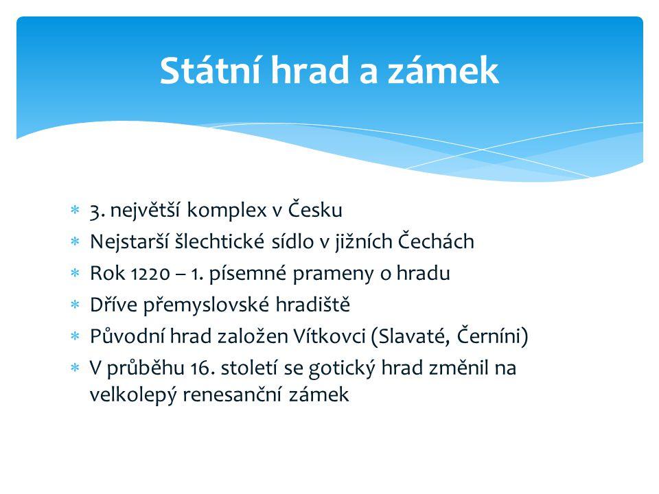 Státní hrad a zámek 3. největší komplex v Česku