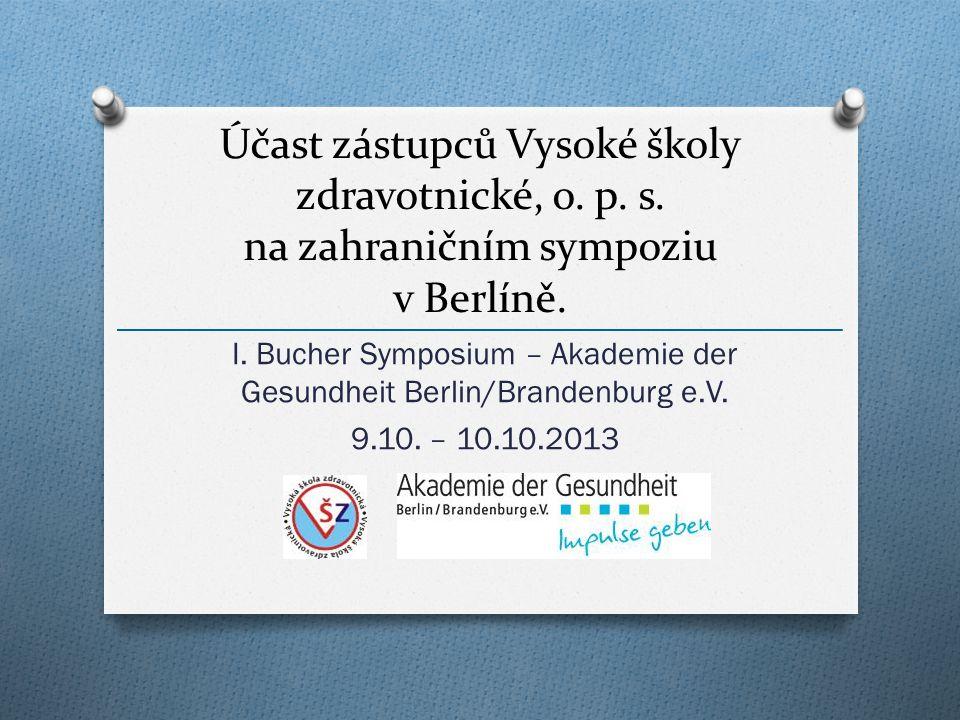 I. Bucher Symposium – Akademie der Gesundheit Berlin/Brandenburg e.V.