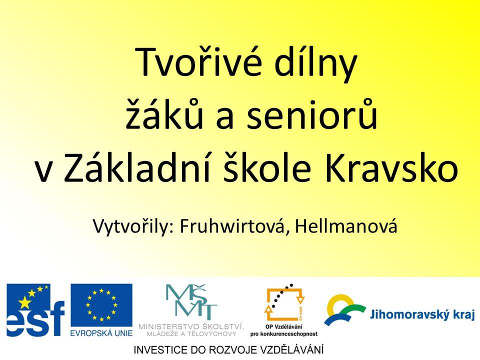 Tvořivé dílny žáků a seniorů v Základní škole Kravsko