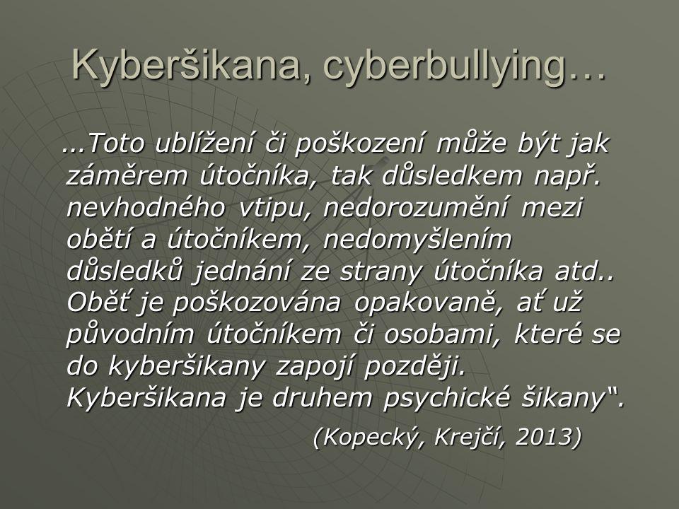 Kyberšikana, cyberbullying…