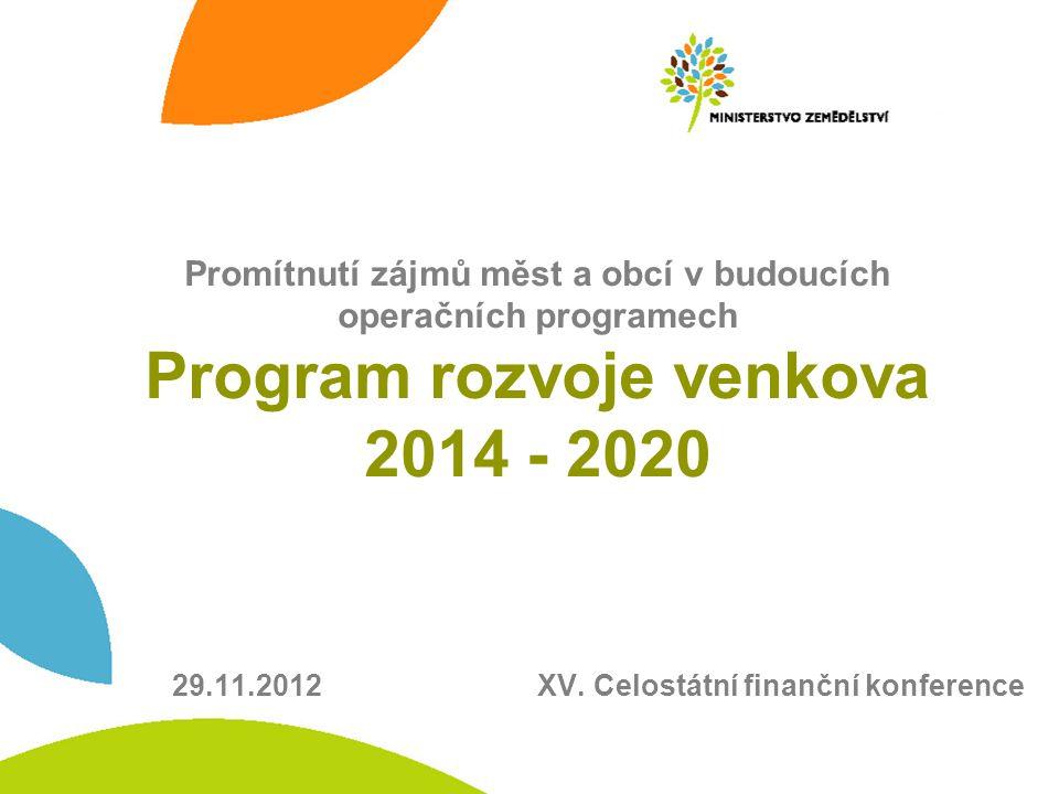 29.11.2012 XV. Celostátní finanční konference