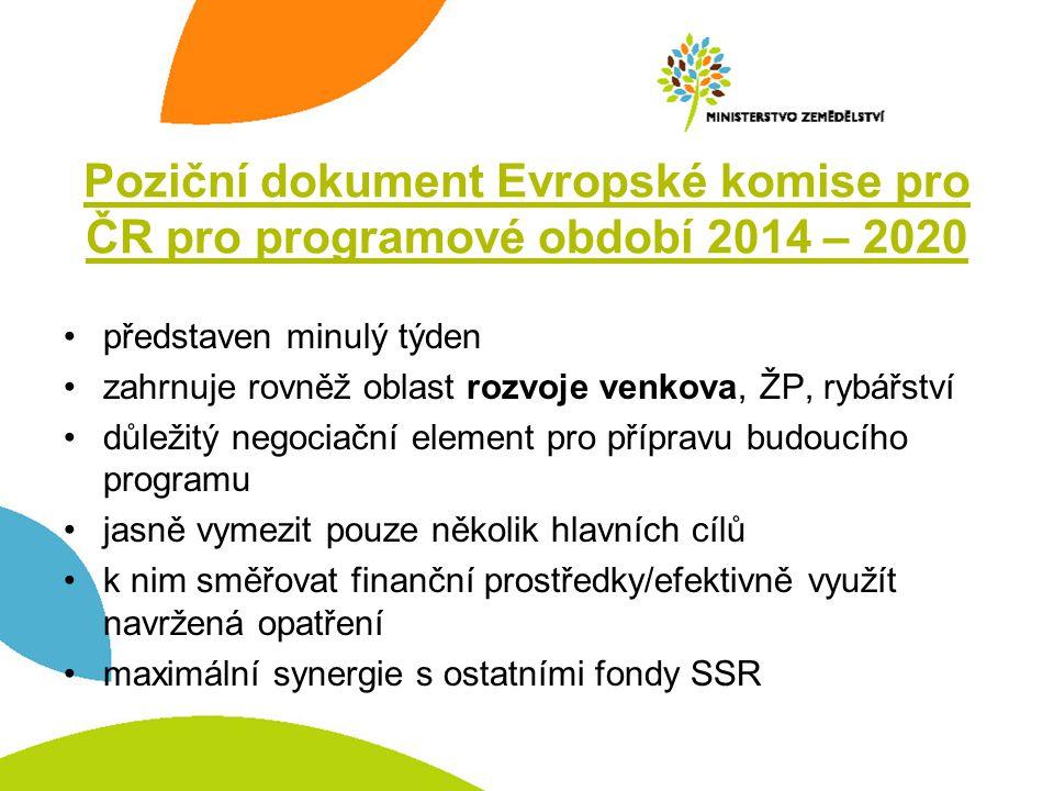 Poziční dokument Evropské komise pro ČR pro programové období 2014 – 2020
