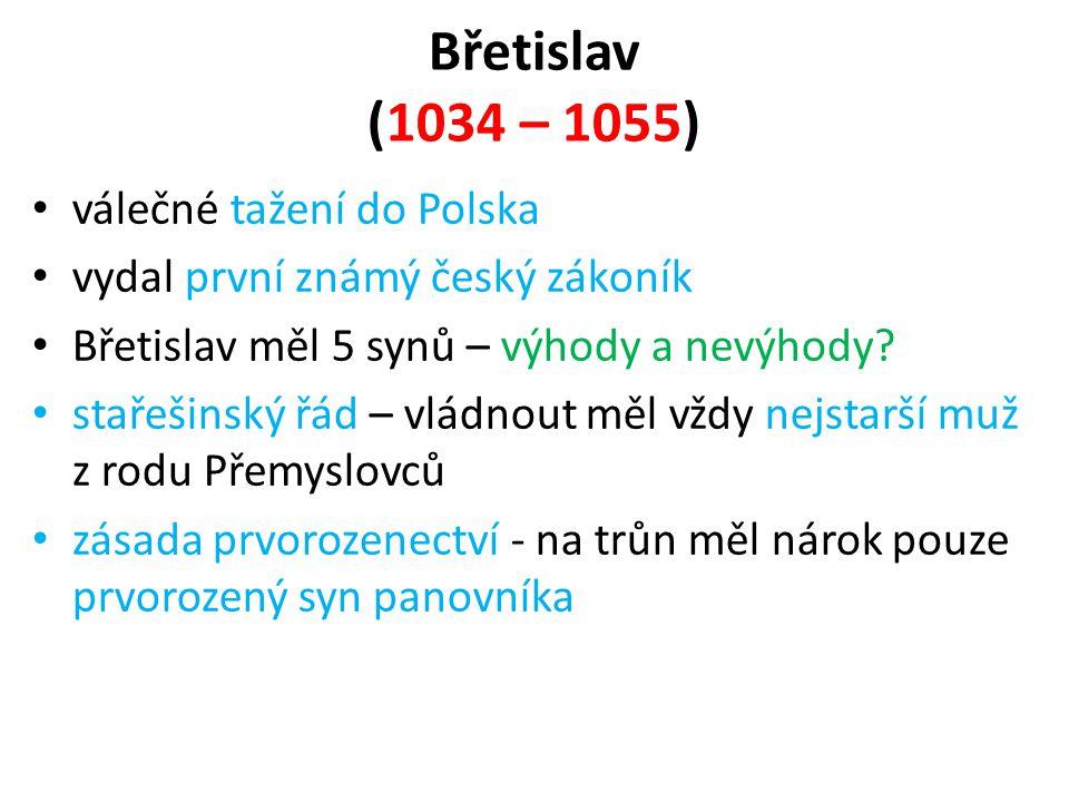 Břetislav (1034 – 1055) válečné tažení do Polska