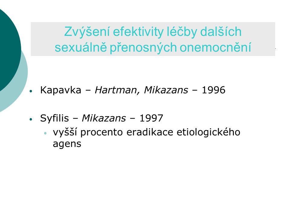 Zvýšení efektivity léčby dalších sexuálně přenosných onemocnění
