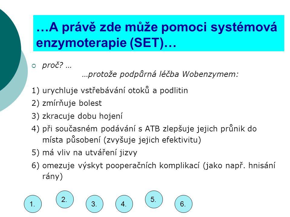 …A právě zde může pomoci systémová enzymoterapie (SET)…