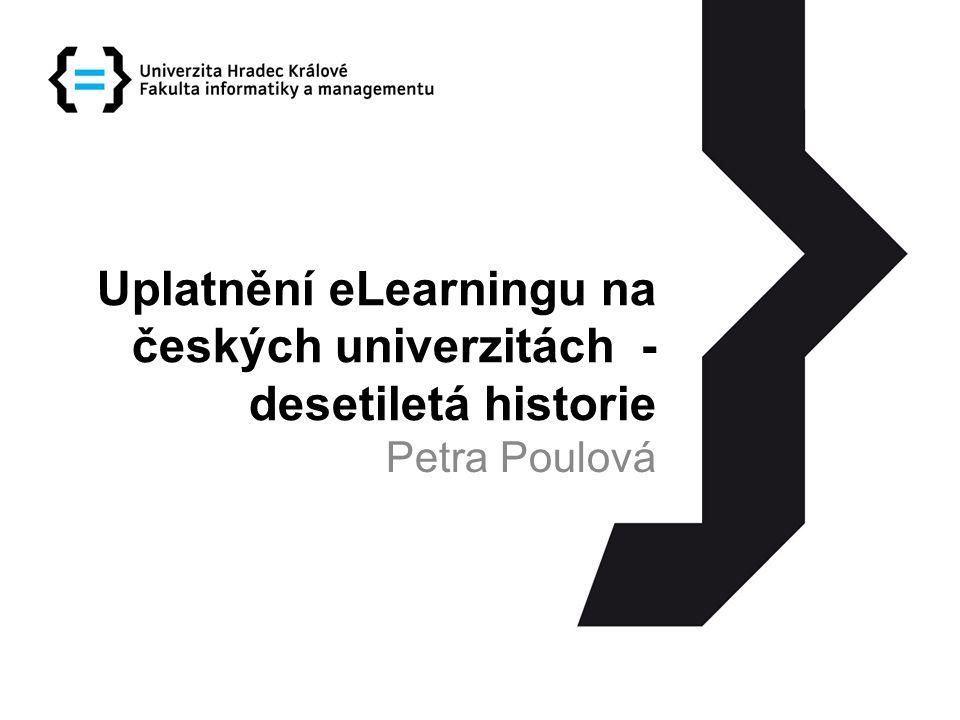 Uplatnění eLearningu na českých univerzitách - desetiletá historie