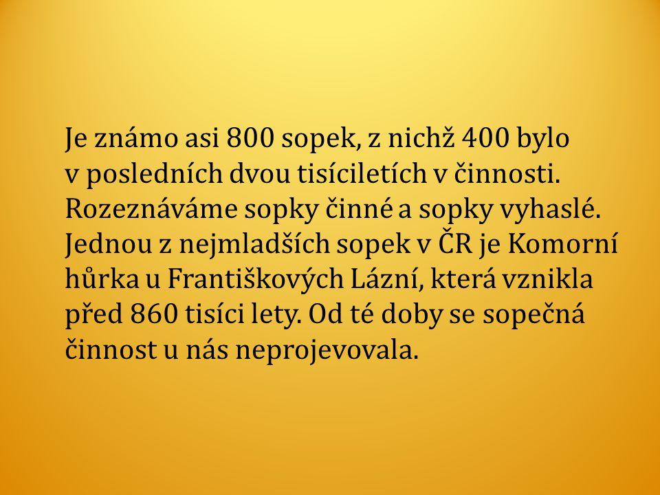 Je známo asi 800 sopek, z nichž 400 bylo v posledních dvou tisíciletích v činnosti.