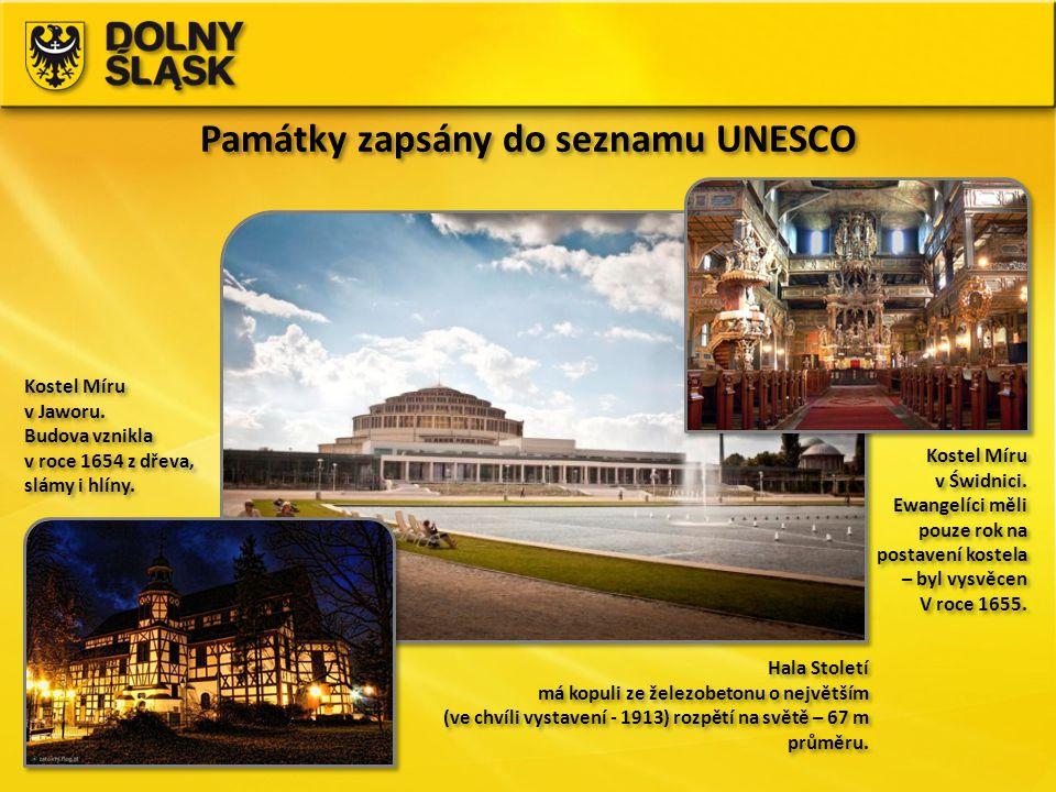 Památky zapsány do seznamu UNESCO