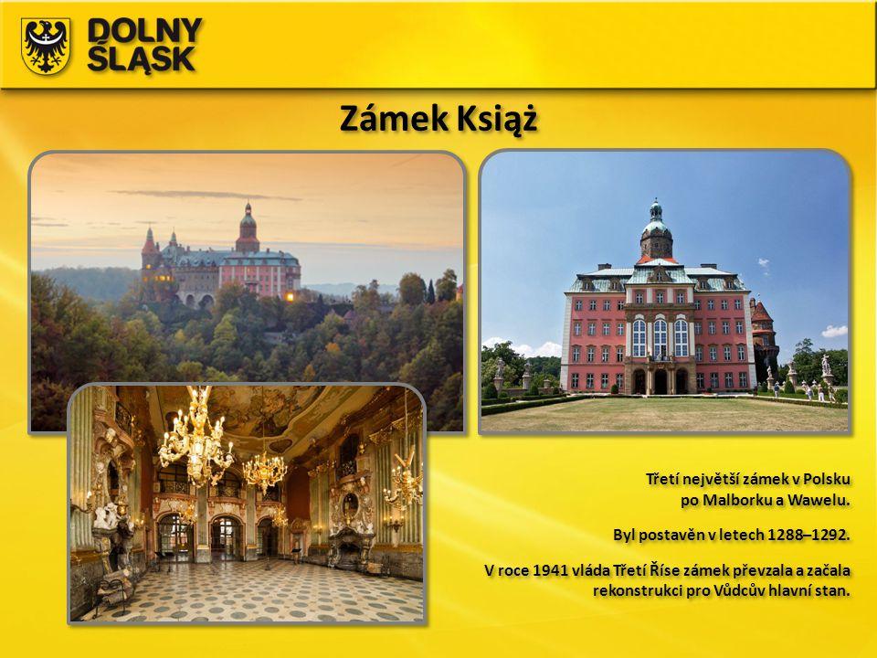 Zámek Książ Třetí největší zámek v Polsku po Malborku a Wawelu.