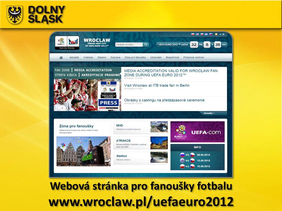 Webová stránka pro fanoušky fotbalu