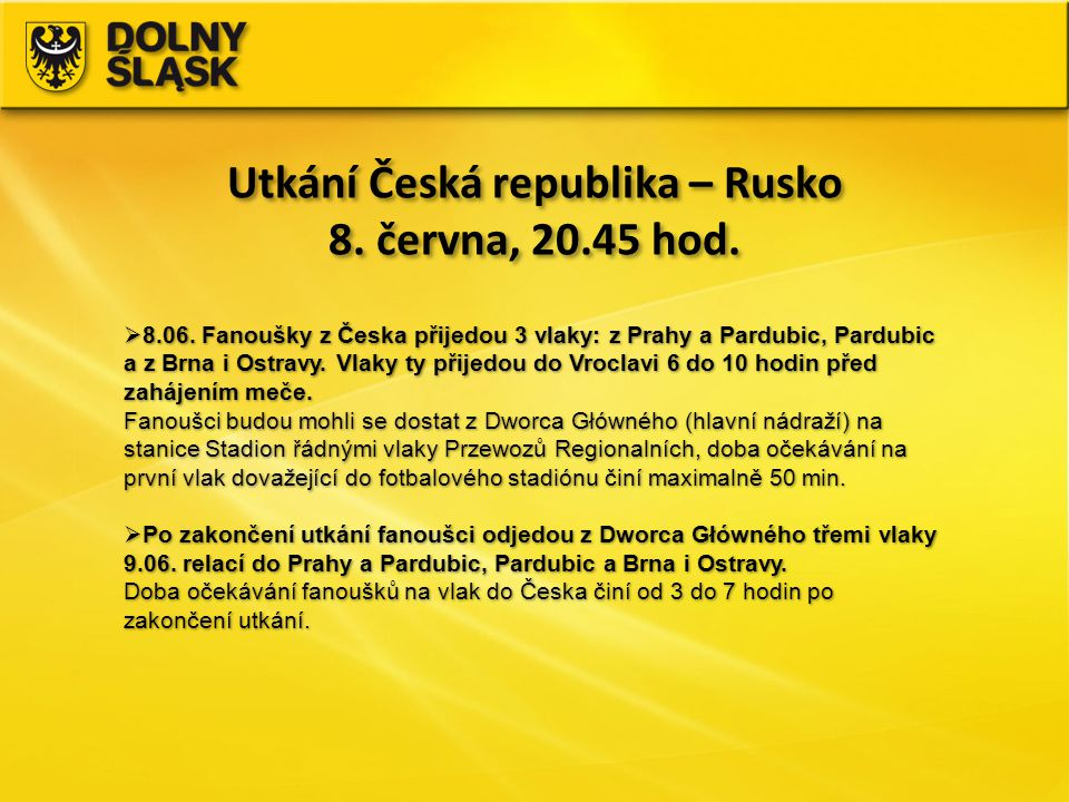Utkání Česká republika – Rusko